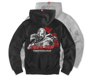 "Hoodie,zip ""Blood for Blood"""