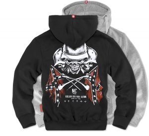 "Hoodie,zip ""Rebellion MC"""