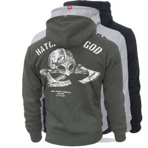 "Hoodie,zip ""Hatchet of God"""