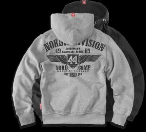 """Hoodie,zip """"Nordic Division"""""""