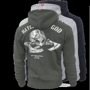 """Hoodie,zip """"Hatchet of God"""""""